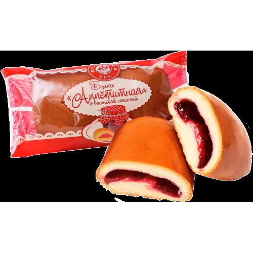 """Булка """"Аппетитная"""" с вишневой начинкой"""