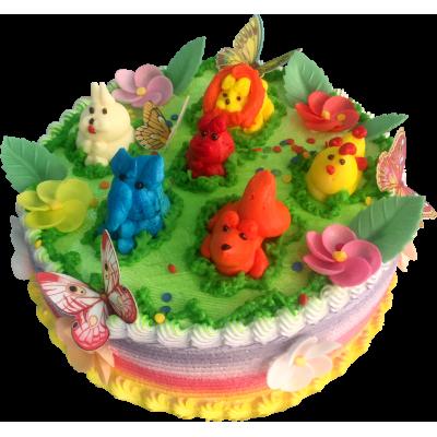 Детский торт 214 / Торт с индивидуальной отделкой