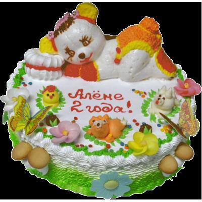 Детский торт 216 / Торт с индивидуальной отделкой