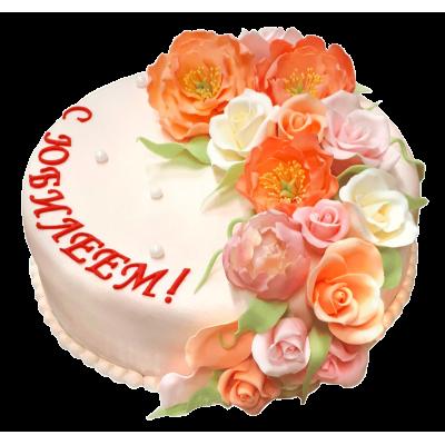 """Праздничный торт 201  / Торт """"Премиум"""" с ф.из мастики"""