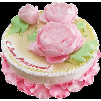 """Праздничный торт 209 / Торт """"Премиум"""" с ф.из мастики"""
