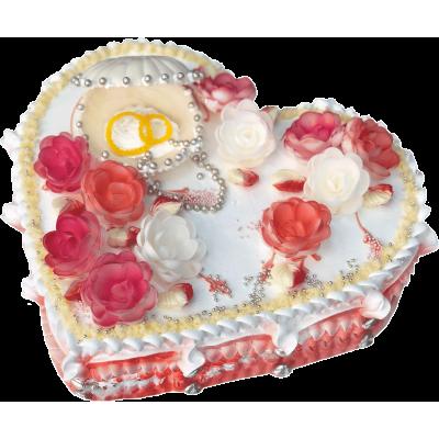 Свадебный торт 212 / Торт с индивидуальной отделкой