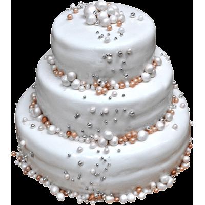 Свадебный торт 203 / Торт эксклюзивный (мастика,марципан)