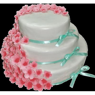 Свадебный торт 206 / Торт эксклюзивный по инд.заказу