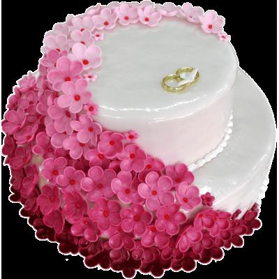 Свадебный торт 207 / Торт эксклюзивный по инд.заказу