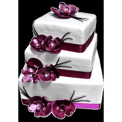 """Свадебный торт 211 / Торт """"Премиум"""" с ф.из мастики"""