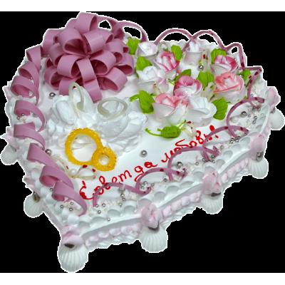 Свадебный торт 213 / Торт с индивидуальной отделкой