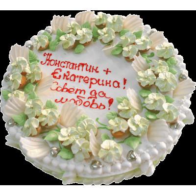 Свадебный торт 214 / Торт с индивидуальной отделкой