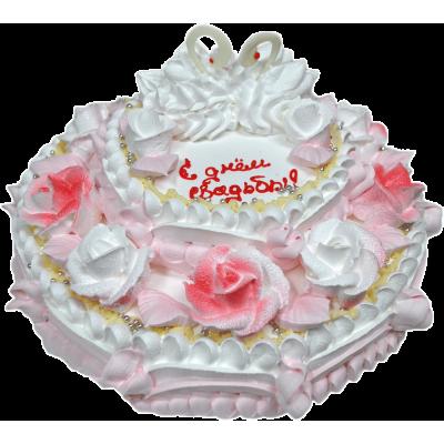 Свадебный торт 215 / Торт с индивидуальной отделкой