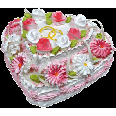 Свадебный торт 216 / Торт с индивидуальной отделкой